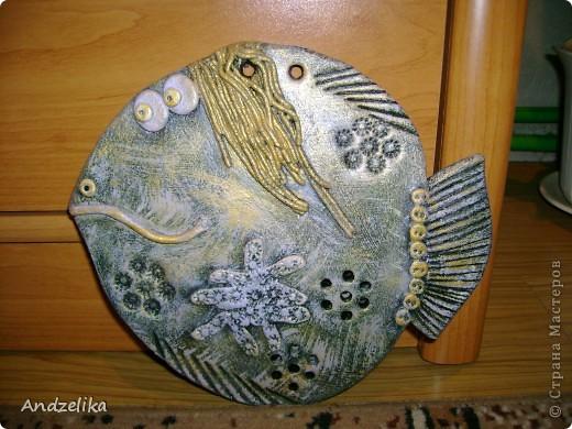 Рыбка с золотыми волосами фото 1