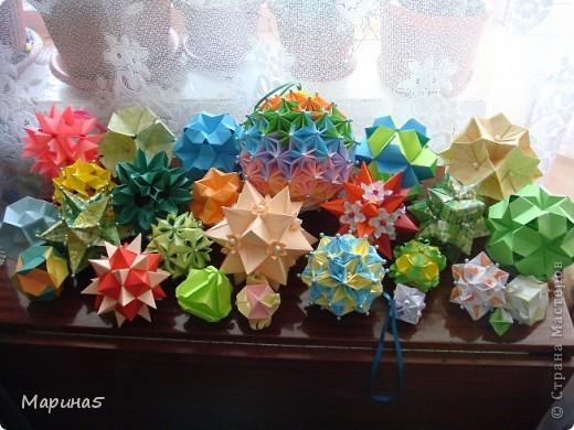 Ура!!!! Я это сделала!!! Я закончила штудирование книги Unit Origami Fantasy. Эта кусдама моя гордость, состоит из 270! модулей Муравьинный лев, стр.152-154 фото 7