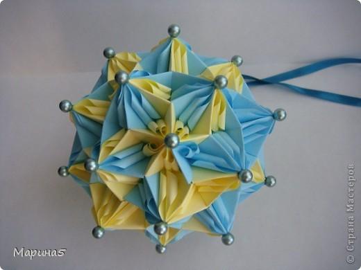 Ура!!!! Я это сделала!!! Я закончила штудирование книги Unit Origami Fantasy. Эта кусдама моя гордость, состоит из 270! модулей Муравьинный лев, стр.152-154 фото 4