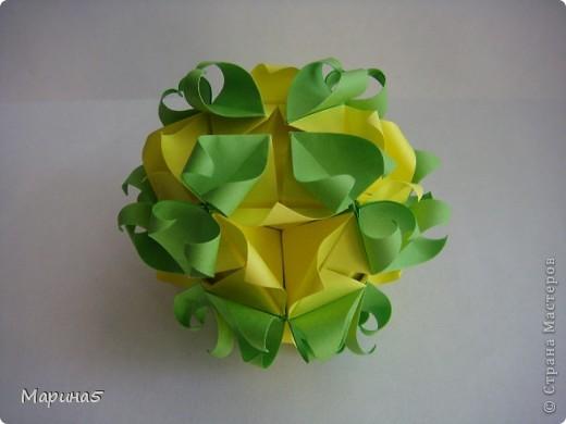 Ура!!!! Я это сделала!!! Я закончила штудирование книги Unit Origami Fantasy. Эта кусдама моя гордость, состоит из 270! модулей Муравьинный лев, стр.152-154 фото 5