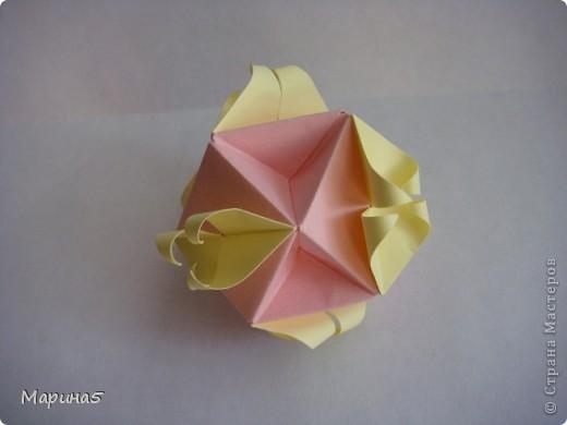 Ура!!!! Я это сделала!!! Я закончила штудирование книги Unit Origami Fantasy. Эта кусдама моя гордость, состоит из 270! модулей Муравьинный лев, стр.152-154 фото 6