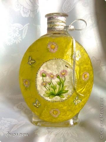 Бутылочка,а можно и вазочка фото 1