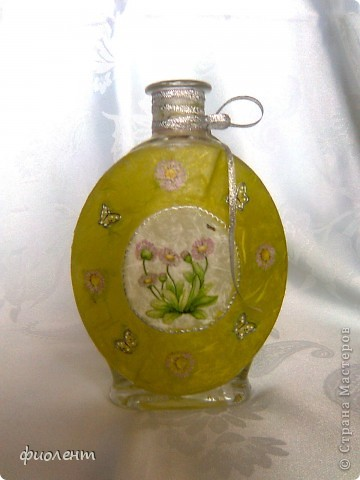 Бутылочка,а можно и вазочка фото 2
