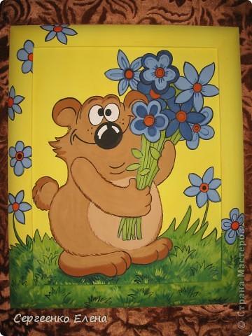 Эти смешные картины я нарисовала для украшения интерьеров  групповых комнат и спален детей в нашем детском саду. фото 1