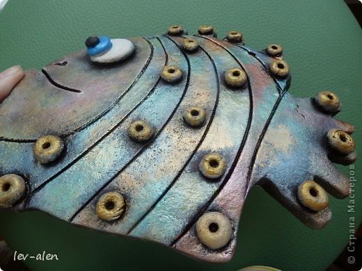 Вот такая рыбка получилась, с различными оттенками металлическими, переливающимися как нефтяное пятно .  фото 4