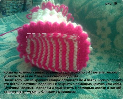 Мастер-класс Вязание спицами пинетки - Ёжики Пряжа фото 11
