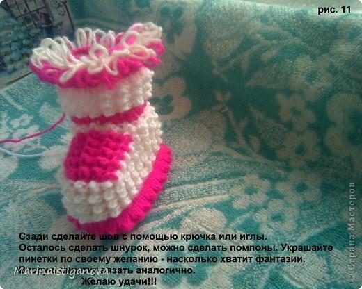 Мастер-класс Вязание спицами пинетки - Ёжики Пряжа фото 12