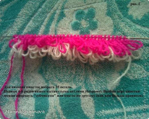 Мастер-класс Вязание спицами пинетки - Ёжики Пряжа фото 2