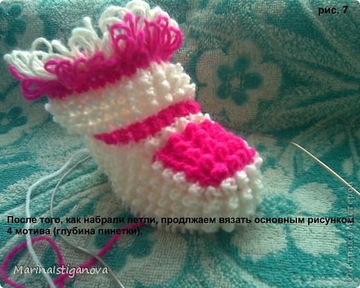 Мастер-класс Вязание спицами пинетки - Ёжики Пряжа фото 8