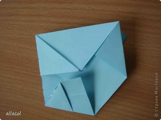"""Готовлюсь к занятиям кружка """"Оригами"""". Тема """"Орнаменты"""". Чтобы заинтересовать, стараюсь сделать образцы. Вот что у меня получилось сегодня. Это орнамент """"Иллюзия"""". Делала по книге Т.Сержантовой """"100 праздничных моделей оригами"""". Выглядит красиво, но уж очень много слоев. Ведь этот орнамент из 20 модулей. фото 24"""