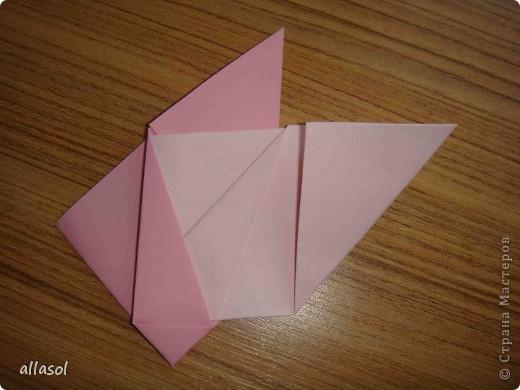 """Готовлюсь к занятиям кружка """"Оригами"""". Тема """"Орнаменты"""". Чтобы заинтересовать, стараюсь сделать образцы. Вот что у меня получилось сегодня. Это орнамент """"Иллюзия"""". Делала по книге Т.Сержантовой """"100 праздничных моделей оригами"""". Выглядит красиво, но уж очень много слоев. Ведь этот орнамент из 20 модулей. фото 37"""