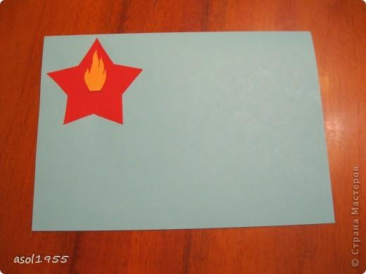 Такие открытки сделали ребята 4 классов вГПД школы№518 г. С-Петербурга в подарок ветеранам ВОВ ,которые придут в гости. фото 5