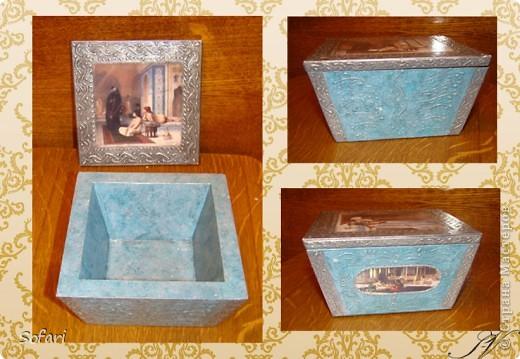 Буквально перед майскими праздниками проводила я мастер-класс  по созданию такой вот коробочки.  даже не знаю как ее назвать, мне больше нравится конфетница. Эту работу я делала специально перед занятием как образец.  фото 1