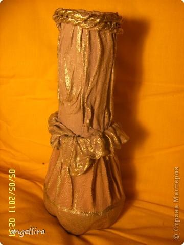 здравствуйте, мои дорогие! Благодаря Танюшкиной идее декорировать тканью бутылки я решила попробывать сделать вазу из ничего и вот что из этого получилось :) фото 16