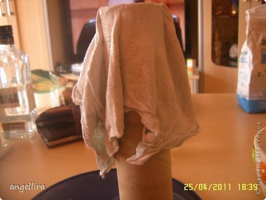 здравствуйте, мои дорогие! Благодаря Танюшкиной идее декорировать тканью бутылки я решила попробывать сделать вазу из ничего и вот что из этого получилось :) фото 11