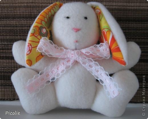 Вот такой пошился зайка. Спасибо Кате за прекрасный МК! Вот здесь http://www.katjushik.ru/categories/toys/animals/page/4 фото 2