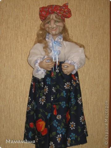 Пошилась очередная бабушка Яга в подарок. Поедет в город невест Иваново - глядишь, и замуж выйдет! фото 4