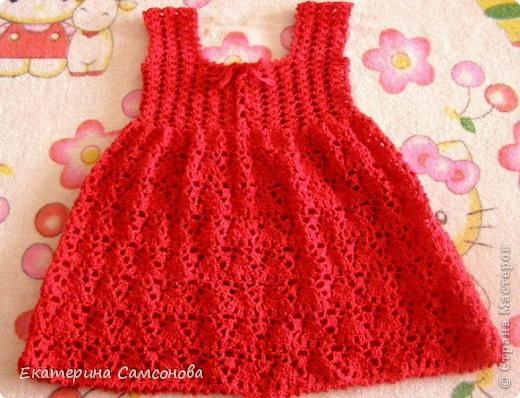 Платье для дочки крючком