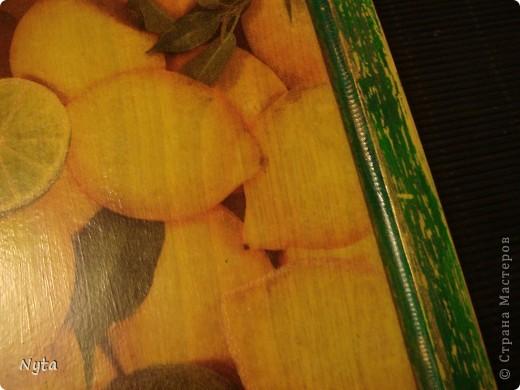 """Вот такую """"лимонную"""" досочку сделала в подарок коллеге на день рождения фото 3"""