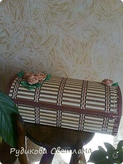 шкатулка в подарок из бамбуковой салфетки по МК  http://www.liveinternet.ru/users/3014338/post110693436/ фото 1