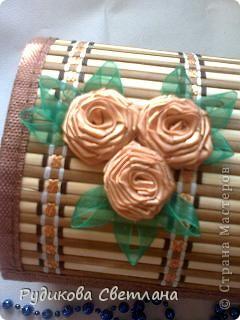 шкатулка в подарок из бамбуковой салфетки по МК  http://www.liveinternet.ru/users/3014338/post110693436/ фото 3