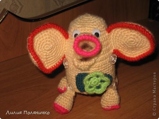 Представляю вашему вниманию развивающую игрушку слонишку-обжорку: фото 10