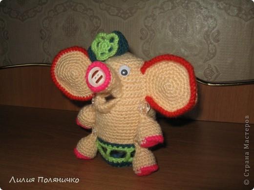 Представляю вашему вниманию развивающую игрушку слонишку-обжорку: фото 3