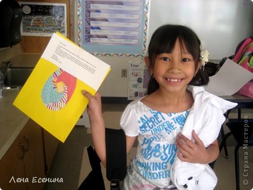 Пасхальные яйца. Работы детей 1 класса США (6 лет). Слева работа дочки. фото 2