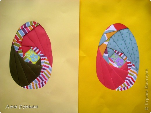 Пасхальные яйца. Работы детей 1 класса США (6 лет). Слева работа дочки. фото 1