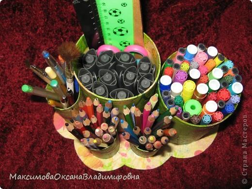 Стаканчики под карандаши и фломастеры фото 3