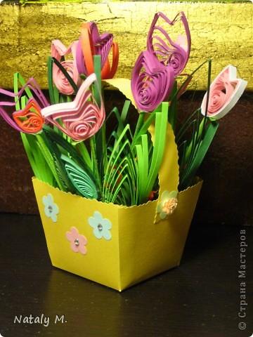 Тюльпаны в корзине фото 1