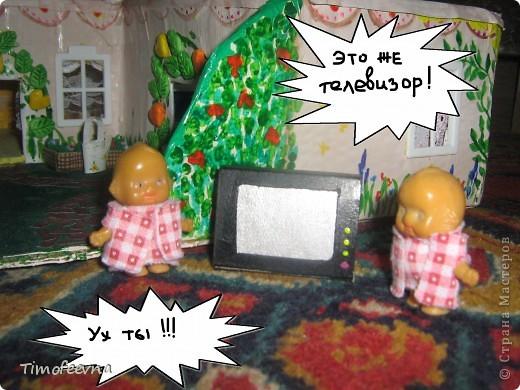 """Мой сын Миша справедливо заметил, что в нашем <a href=""""http://stranamasterov.ru/node/176652"""">домике для пупсиков</a>  нет телевизора. В чём проблема? Будет!  фото 15"""