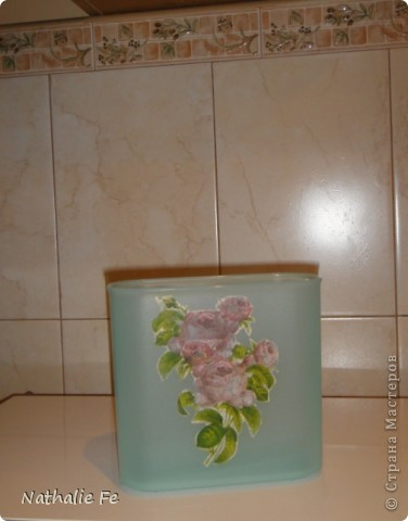 Декупаж ящичка для соли (так написано на этикетке). Делала для подарка. Думаю, можно использовать и как шкатулку... фото 9