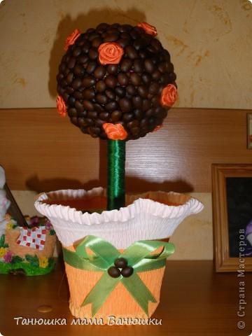 Вот такое дерево у меня получилось! Хотела сделать в кофейной кружке, но не нашла подходящую по размеру (к сожалению).  фото 1