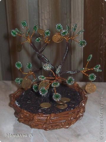 Очень заинтересовало плетение деревьев из бисера. Сакура конечно интереснее получилась, ноя ведь только учусь. фото 1