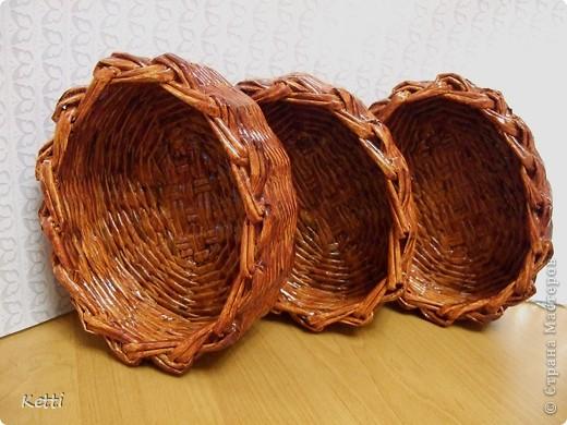 Наплела корзиночки для гостей с Украины. фото 7