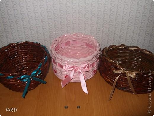 Наплела корзиночки для гостей с Украины. фото 1