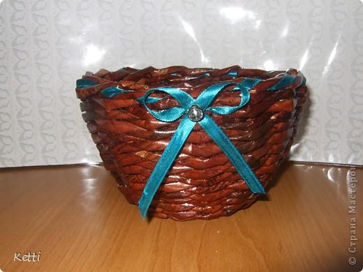 Наплела корзиночки для гостей с Украины. фото 3