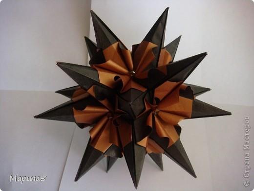 Кусудама Echinos floridus Автор Екаткрина Лукашева Схема http://kusudama.me/#/Spikes/Echinos_floridus/igel5 фото 3