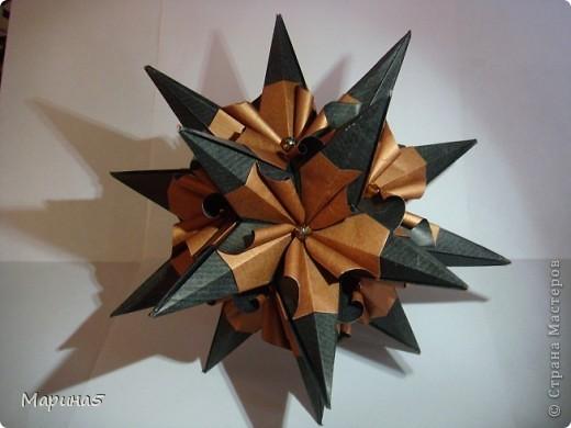 Кусудама Echinos floridus Автор Екаткрина Лукашева Схема http://kusudama.me/#/Spikes/Echinos_floridus/igel5 фото 1