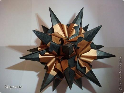 Кусудама Echinos floridus Автор Екаткрина Лукашева Схема http://kusudama.me/#/Spikes/Echinos_floridus/igel5 фото 2