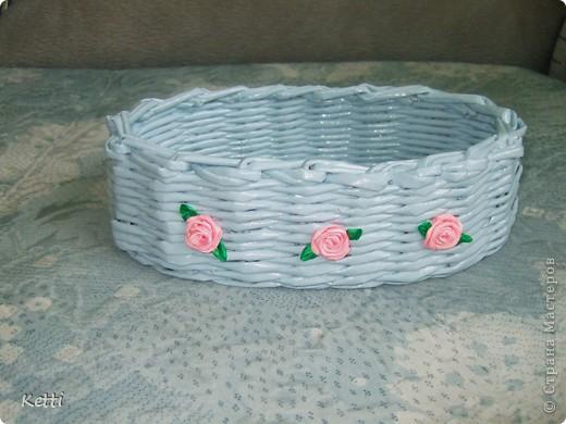 Наплела корзиночки для гостей с Украины. фото 5
