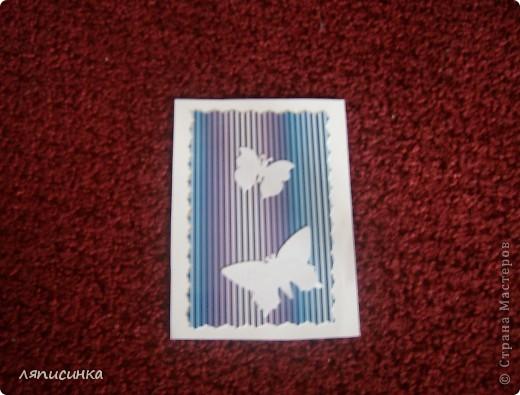 Вот такая серия АТС получилась.Все просто:картон в полоску и дырокольные бабочки(прислала одна хорошая девушка, спасибо ей). фото 3