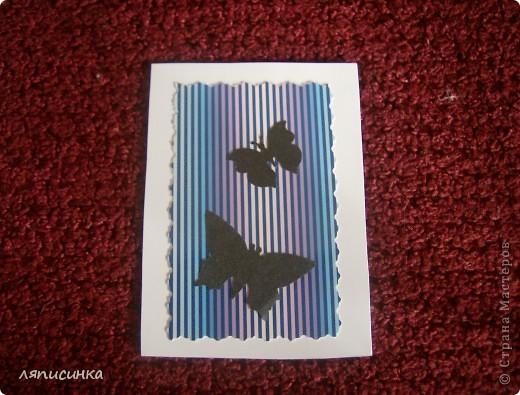 Вот такая серия АТС получилась.Все просто:картон в полоску и дырокольные бабочки(прислала одна хорошая девушка, спасибо ей). фото 6