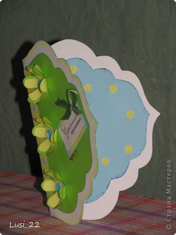 Увидела открыточку на этом сайте http://vimeo.com/22326034. Взяла лишь шаболон(сама от руки нарисовала). Остальное додумала сама, по настроению. фото 2