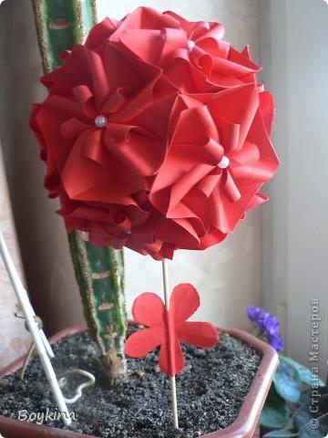 Bella Действительно красавица, иначе не назовёш эту кусудамку. Ссылка здесь http://kusudama.me/#/Bella/Bella/bell4  фото 4