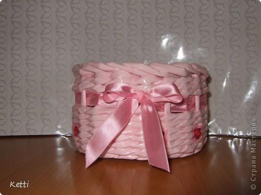 Наплела корзиночки для гостей с Украины. фото 2