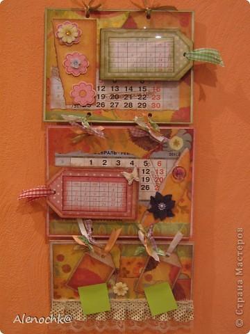 Вот такой календарь я сделала себе на работу фото 1