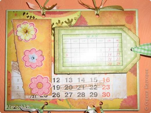 Вот такой календарь я сделала себе на работу фото 2