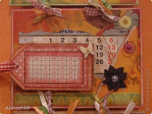 Вот такой календарь я сделала себе на работу фото 3